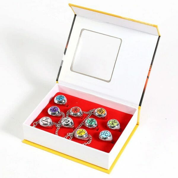 NARUTO Akatsuki Member Ring 10 Pcs/Set