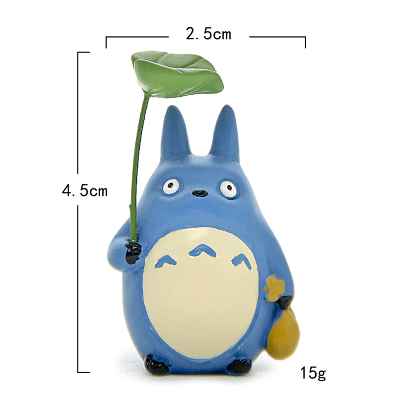 Totoro Family With Leaf Figure