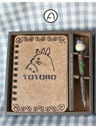 Totoro Wooden Notebook - ghibli.store