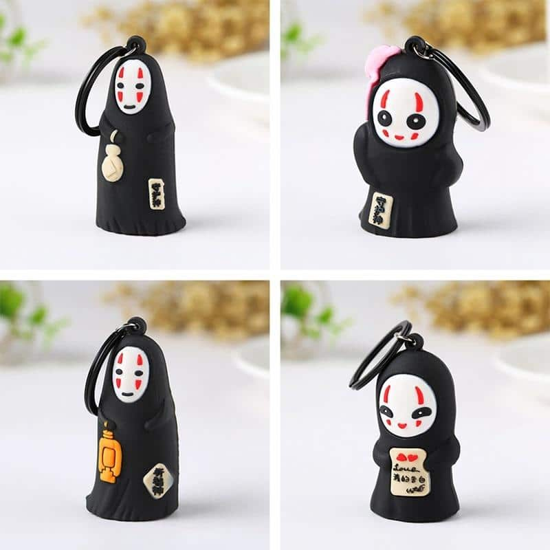 Spirited Away No Face Kaonashi Keychain - ghibli.store