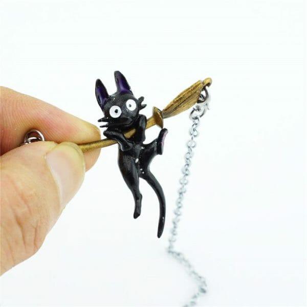 Kiki's Delivery Service JiJi Necklace - ghibli.store