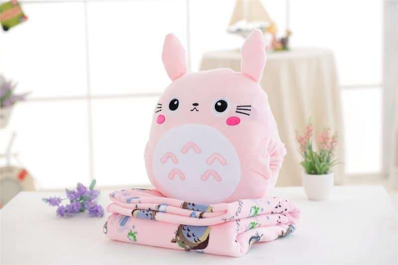 My Neighbor Totoro Hand Warmer Plush Pillow With Coloring Blanket - ghibli.store