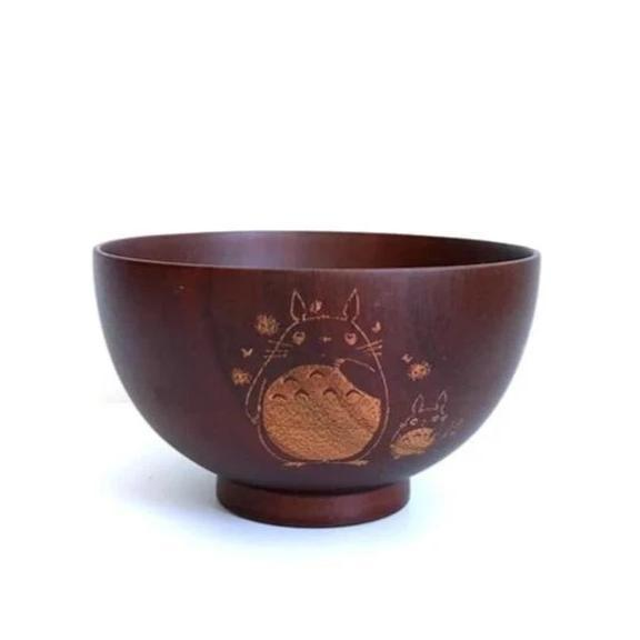 Totoro Mini Wooden Bowl Japanese Style - ghibli.store