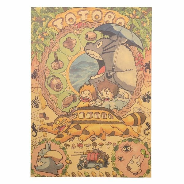 My Neighbor Totoro Vintage Poster