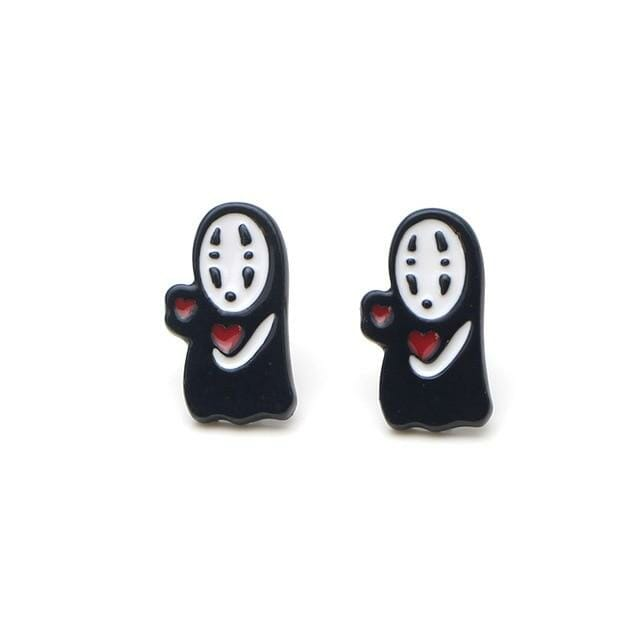 Kaonashi No Face cute Earrings - ghibli.store