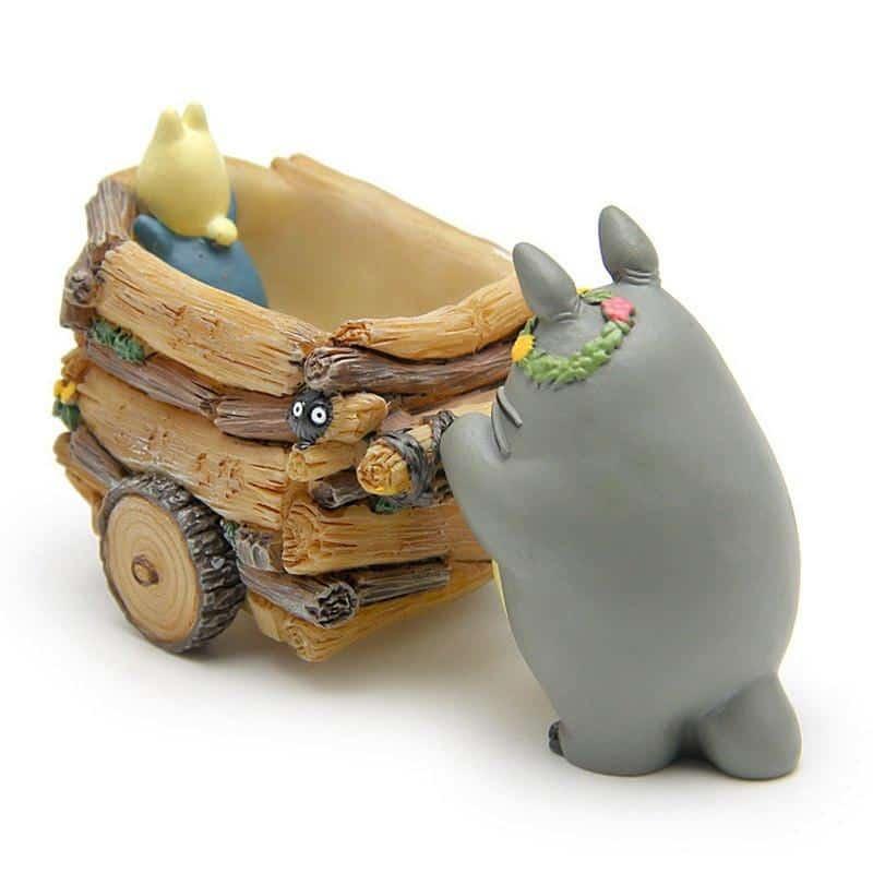 Studio Ghibli My Neighbor Totoro: Totoro Push Car 5cm - ghibli.store