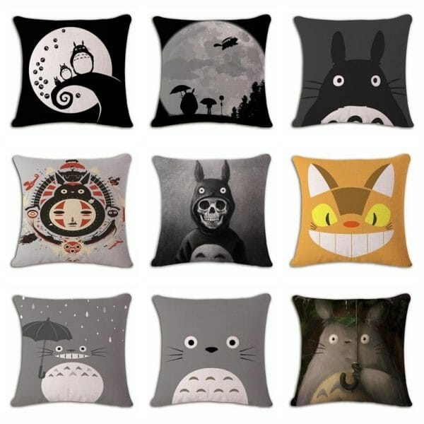 My Neighbor Totoro Linen Throw Pillow Cover - ghibli.store