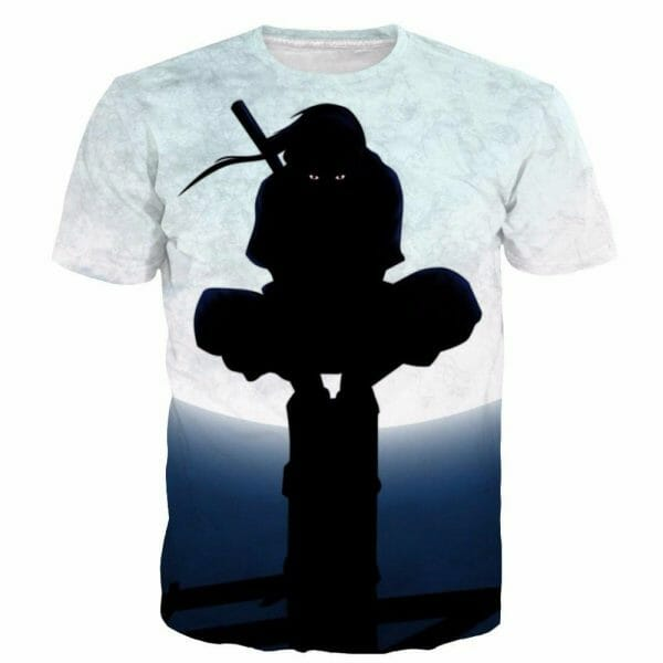 Uchiha Itachi - Moon Night 3D t shirt - ghibli.store