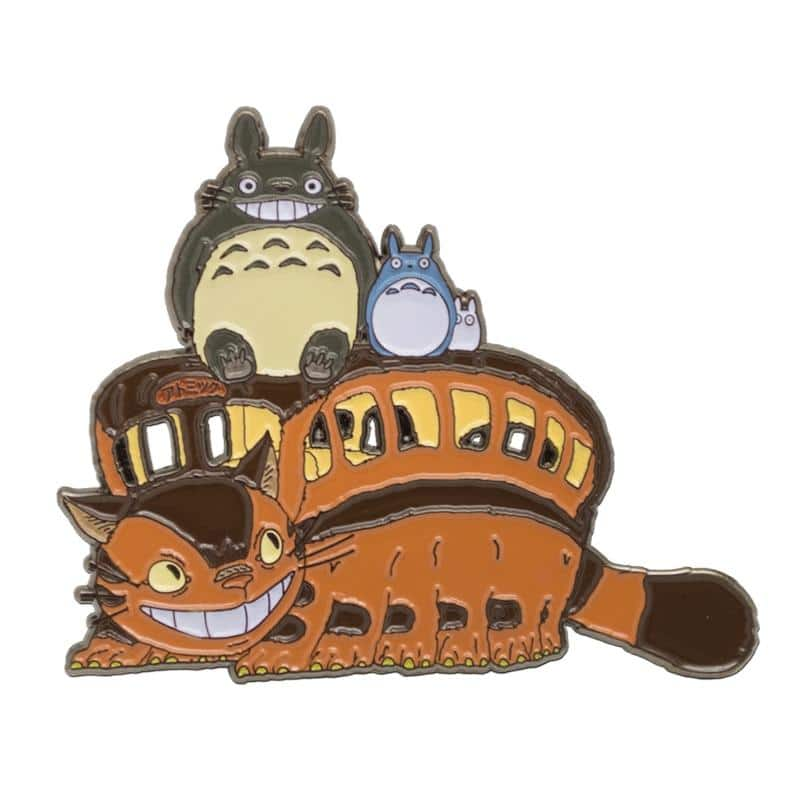 My Neighbor Totoro Catbus Smiling Badge Pins - ghibli.store
