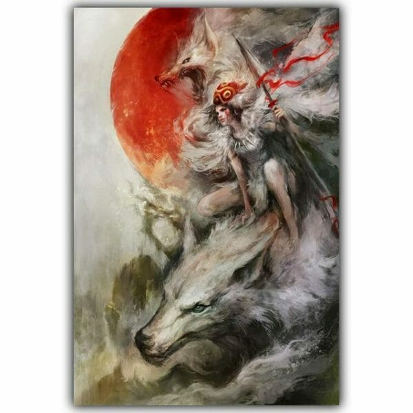 Princess Mononoke Spirited Away Silk Poster Canvas 8 Styles - ghibli.store