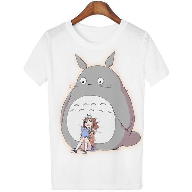 Casual o-neck Totoro Print T-shirt Women 14 Styles - ghibli.store