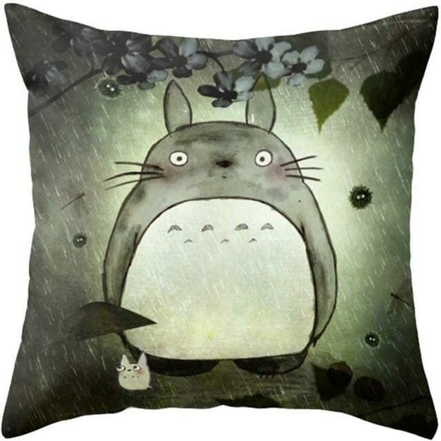 Colorful Totoro Printed Throw Pillow Cover - ghibli.store