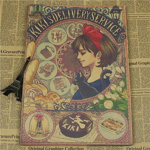 Studio Ghibli Vintage Kraft Paper Wall Sticker - ghibli.store