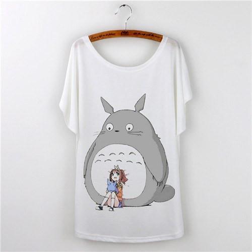 Totoro Print Short Sleeve Women T Shirt 12 Styles - ghibli.store
