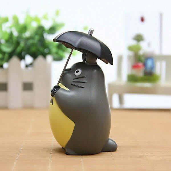 Totoro with umbrella Toy Figure - ghibli.store