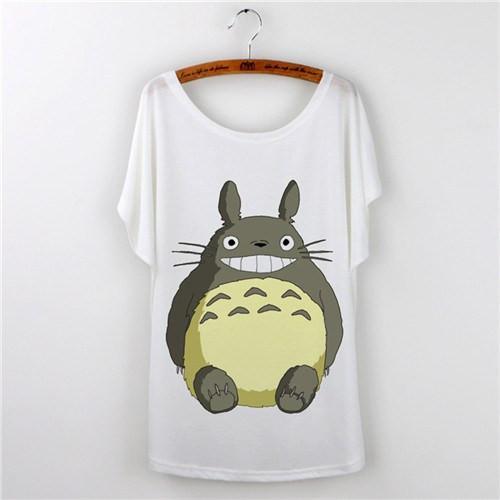 Cute Totoro Print T Shirts For Women 14 Styles - ghibli.store