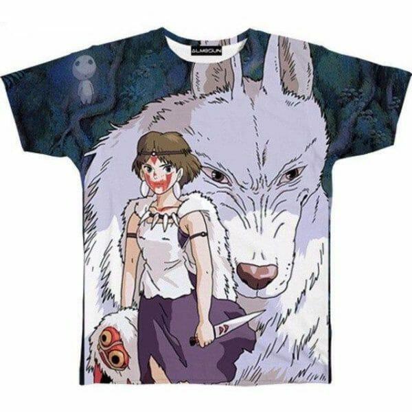 Princess Mononoke 3D T Shirts - ghibli.store