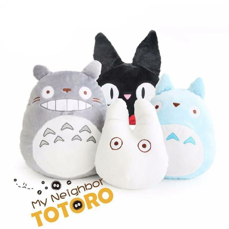 My Neighbor Totoro & KiKi's Delivery Service Jiji Plush Stuffed Pillow - ghibli.store