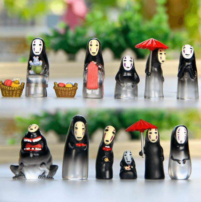 Studio Ghibli Spirited Away No Face Translucence Figures - ghibli.store