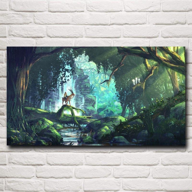 Princess Mononoke Silk Poster Print - ghibli.store