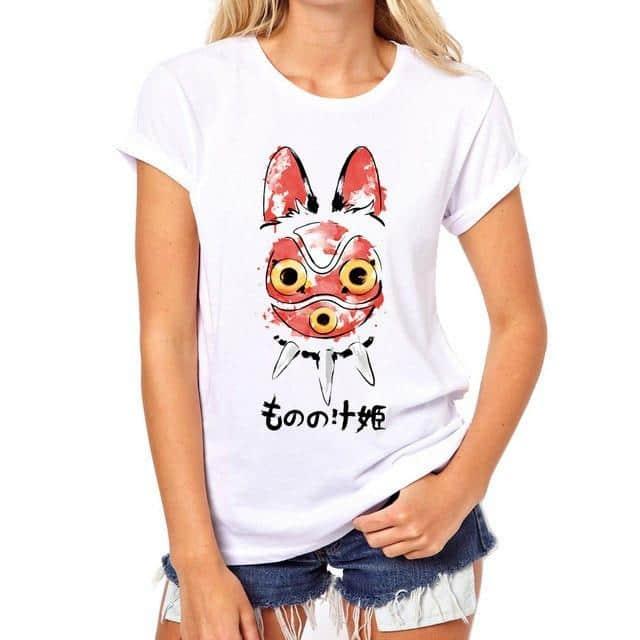 Princess Mononoke Mask T shirt - ghibli.store