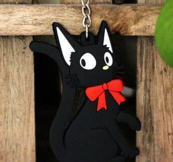 Kiki's Delivery Service Cat Silicone Keychain - ghibli.store