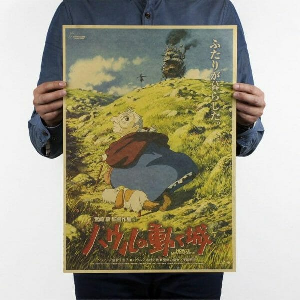 Howl's Moving Castle Classic Wall Poster - ghibli.store