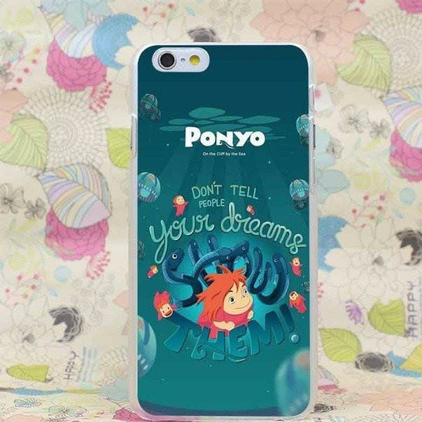 Ponyo On The Cliff Transparent Cover Case for iPhone - ghibli.store