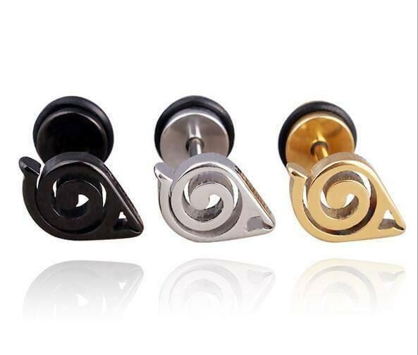 Naruto Stainless Steel Stud Earring - ghibli.store