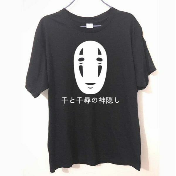 Spirited Away No Face Kaonashi Harajuku T Shirt - ghibli.store