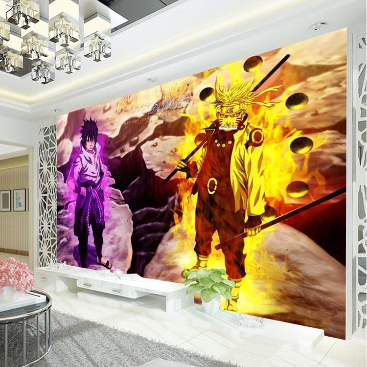 3D Naruto Sasuke Wall Mural Wallpaper - ghibli.store