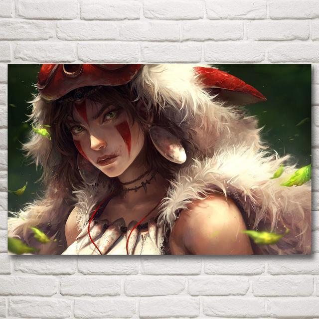 Princess Mononoke Silk Poster 5 Styles - ghibli.store