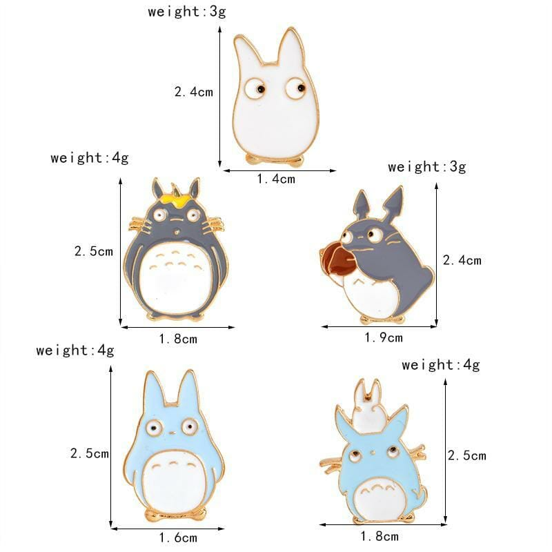 My Neighbor Totoro Pins 5pcs/set - ghibli.store