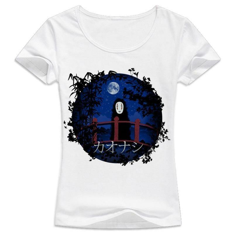 Spirited Away kaonashi Women Tshirt - ghibli.store
