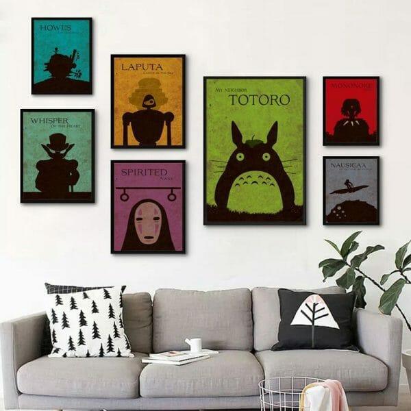 Studio Ghibli Characters Wall Canvas Poster - ghibli.store