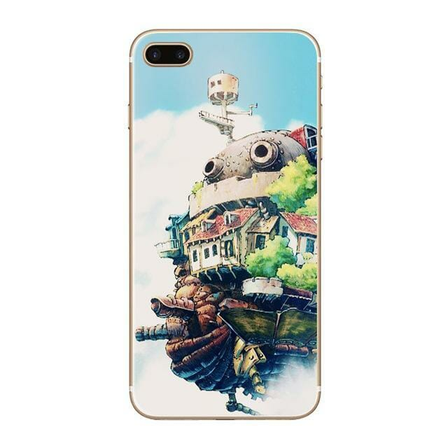 Howls Moving Castle Transparent Cover For iPhone - ghibli.store