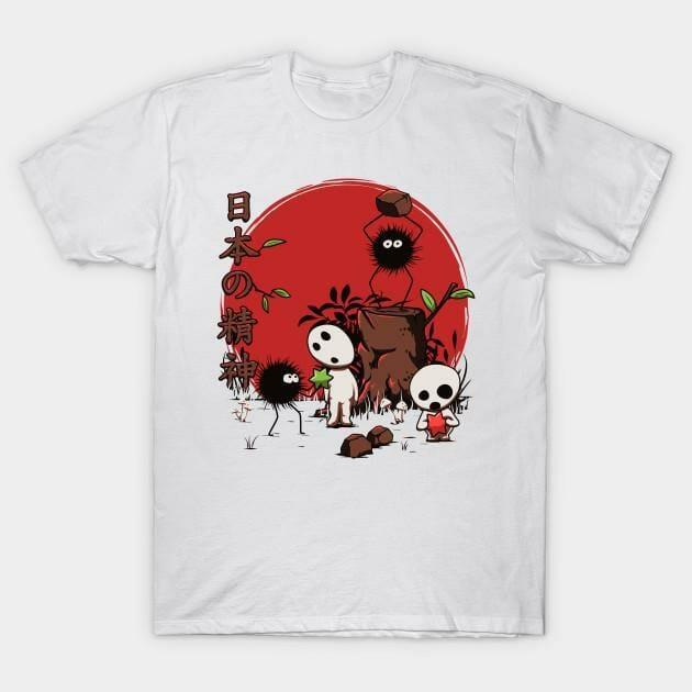 Spirited Away Kodamas & Susuwataris T Shirt - ghibli.store
