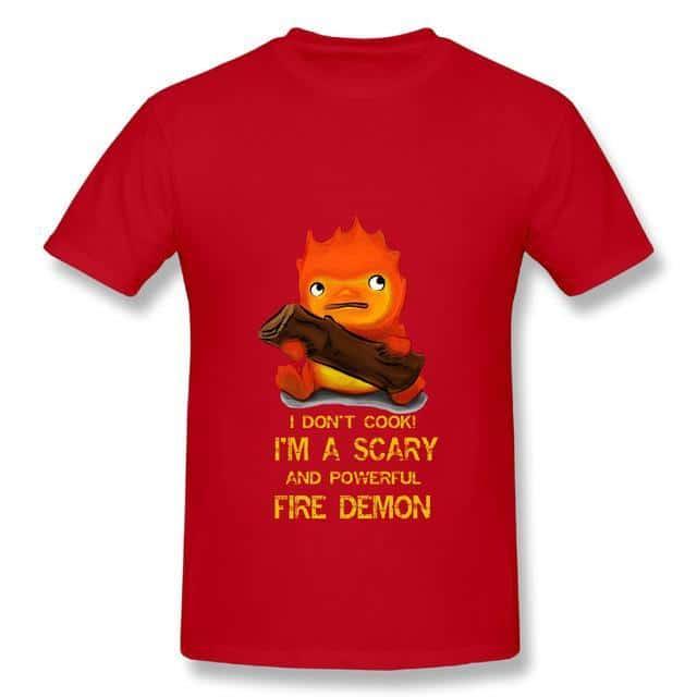 Howl's Moving Castle Calcifer T Shirt - ghibli.store