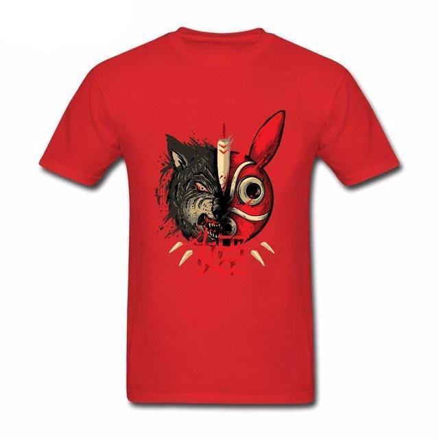Princess Mononoke Mask & Wolf T shirts - ghibli.store