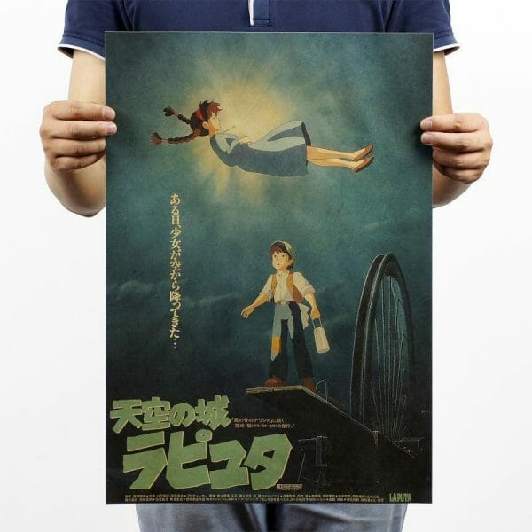 Laputa: Castle in the Sky Kraft Paper Poster 51x35.5cm - ghibli.store