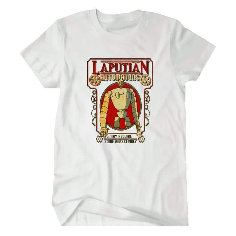 Laputa: Castle in the Sky Robot T shirt - ghibli.store