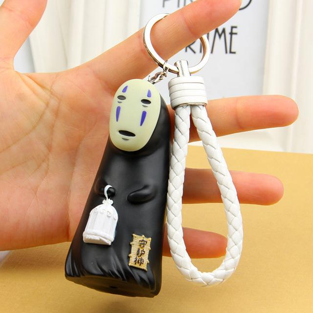 Spirited Away No Face Kaonashi Figure KeyChain - ghibli.store