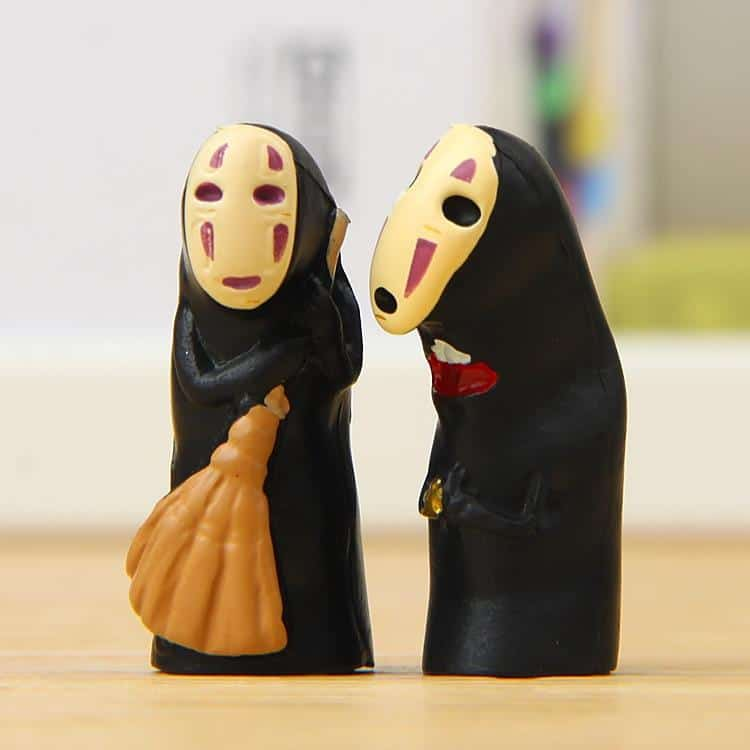 Kaonashi No Face Spirited Away Mini PVC Decoration Toy 4Pcs/lot - ghibli.store