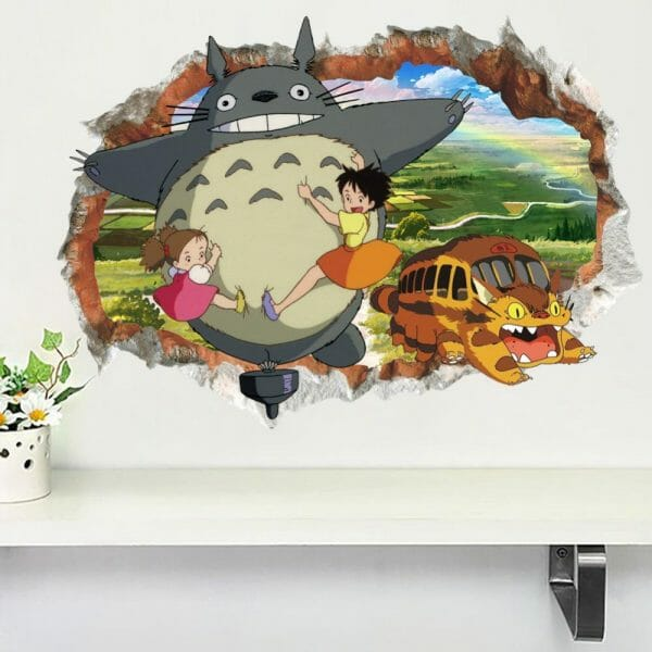 My Neighbor Totoro Colorful 3D Wallpaper - ghibli.store