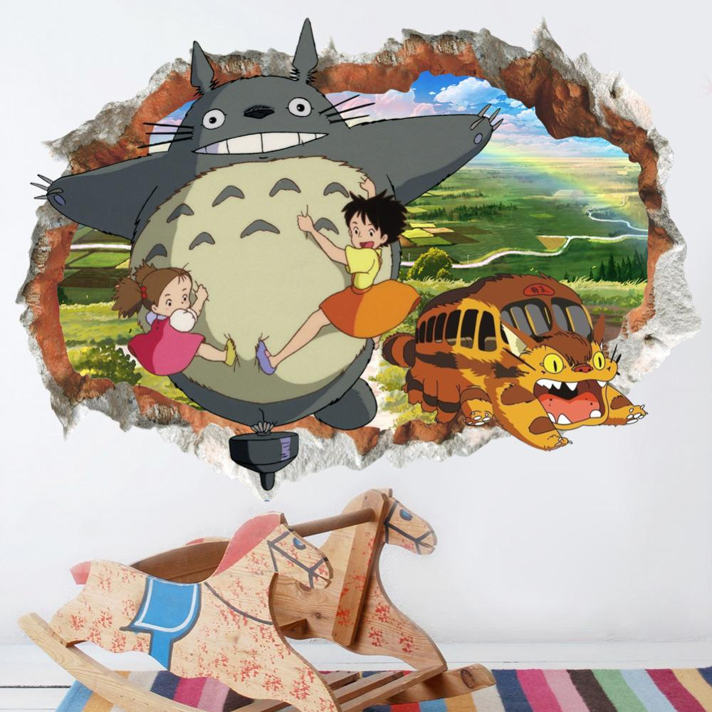 My Neighbor Totoro Colorful 3D Wallpaper - ghibli.store