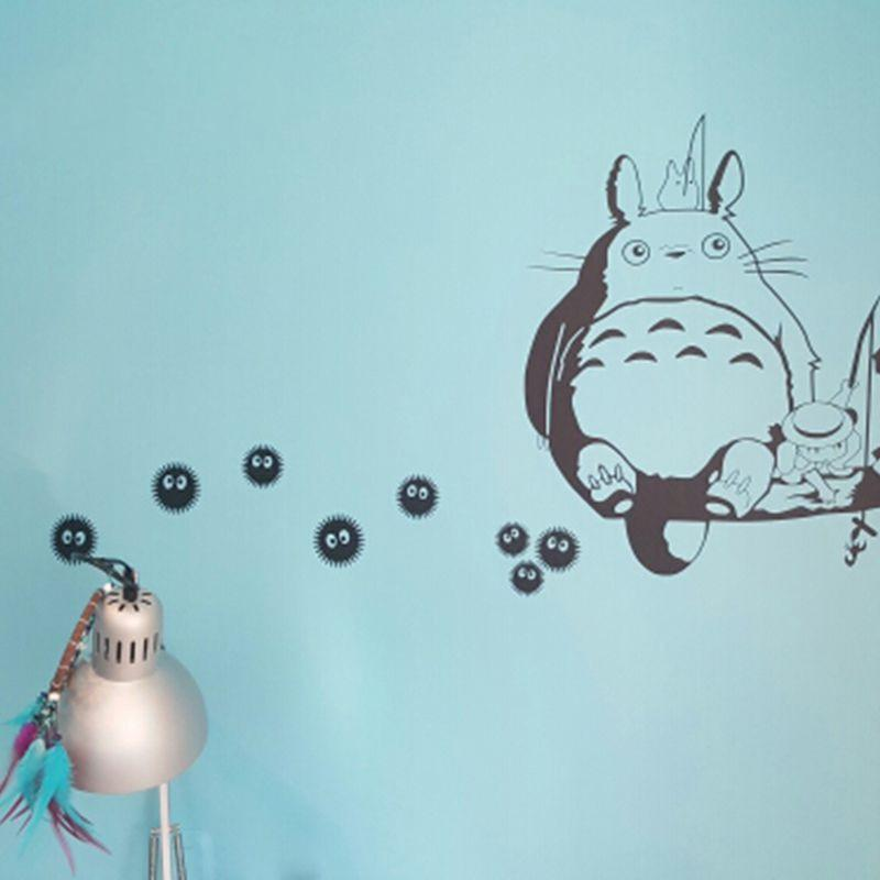 My Neighbor Totoro Soot Sprites Wall Art Stickers - ghibli.store