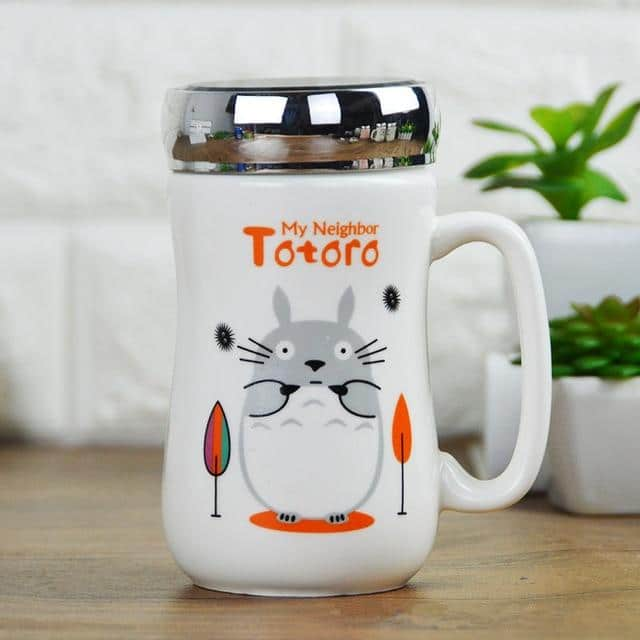 My Neighbor Totoro Ceramic Coffee Mug with Cap - ghibli.store