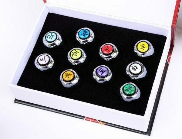 NARUTO Akatsuki Member Ring 10 Pcs/Set - ghibli.store