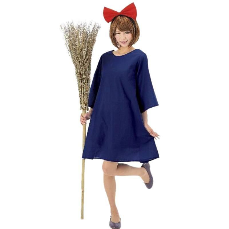 Kiki's Delivery Service Dress and Head Wear Set Cosplay Costumes - ghibli.store