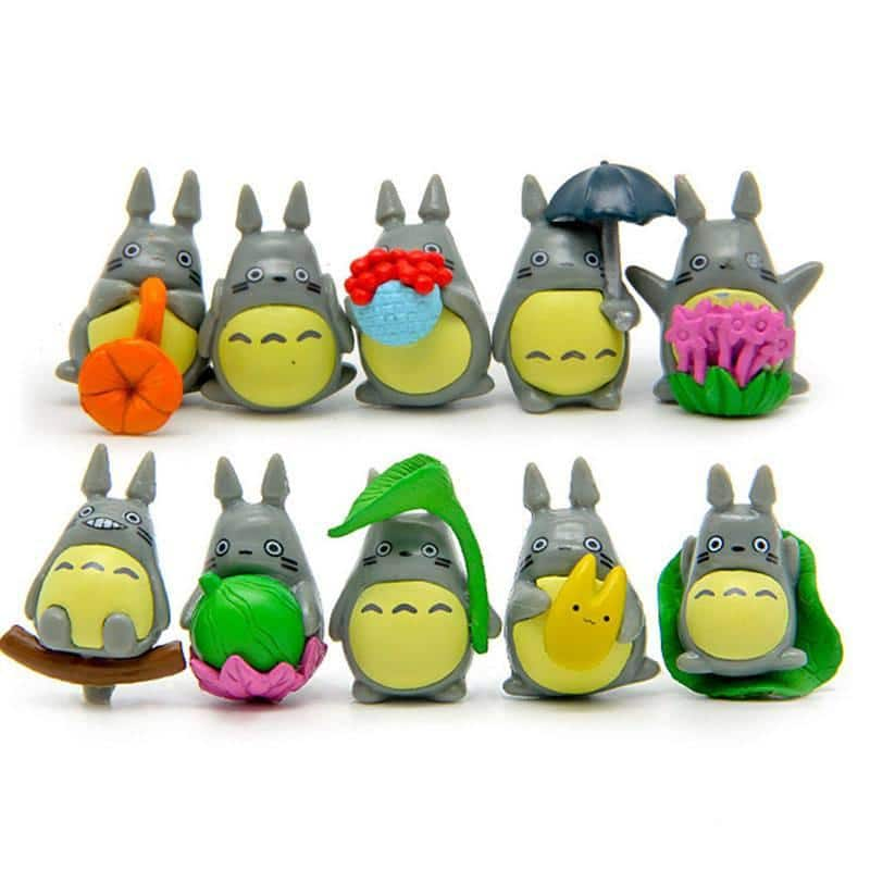 Mini Totoro Figure Toy Set 10pcs/lot - ghibli.store